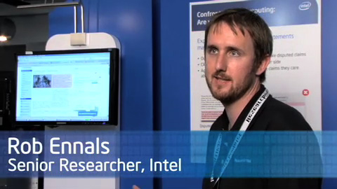 Confrontational Computing – Are You Being Duped – Rob Ennals – Research@Intel Day